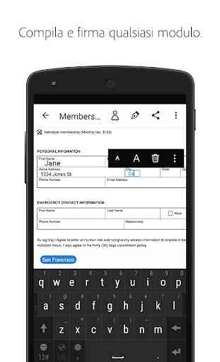 Adobe Fill & Sign: compila facilmente i moduli PDF 1