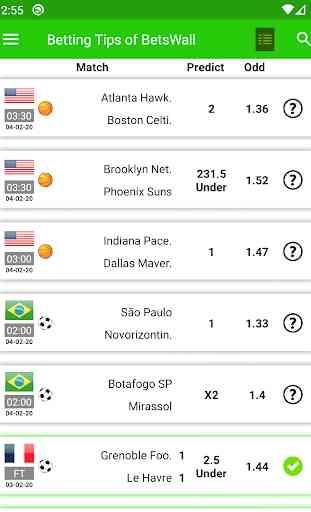 BetsWall - Pronostici Scommesse Calcio 1