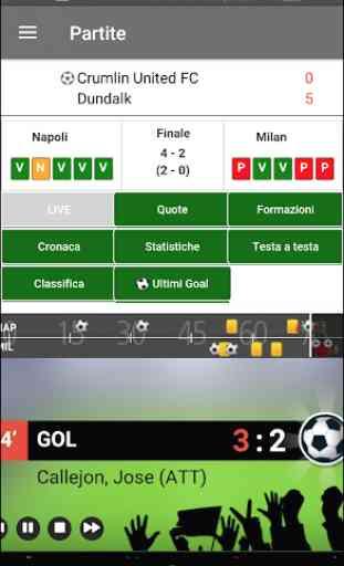 Diretta Goal Livescore - Direttagoal.it 1