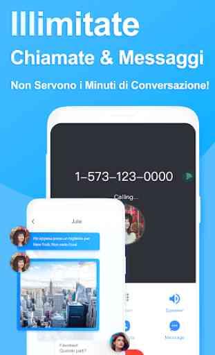 Telos: Secondo Numero, Chiamate & SMS Illimitati 1