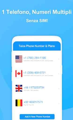 Telos: Secondo Numero, Chiamate & SMS Illimitati 3