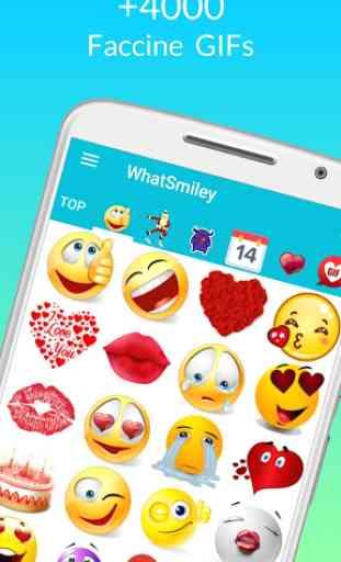 WhatSmiley - Smiley, GIF, emoticon e adesivi 1