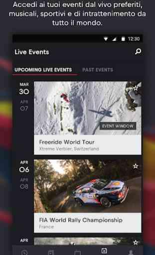 Red Bull TV: Sport in diretta, Musica & Spettacolo 2