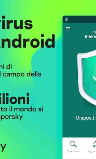 Kaspersky Mobile Antivirus: AppLock Sicurezza Web 1