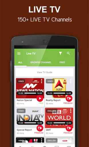nexGTv SD Live TV on Mobile 2