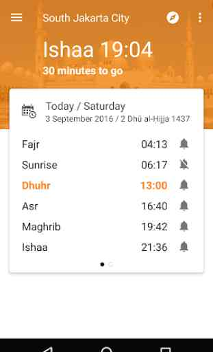 Waktu Salat, Imsakiyah, Qibla 1