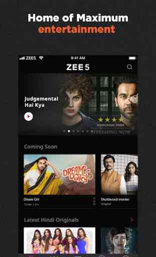 ZEE5 - Movies, TV Shows, LIVE TV & Originals 1