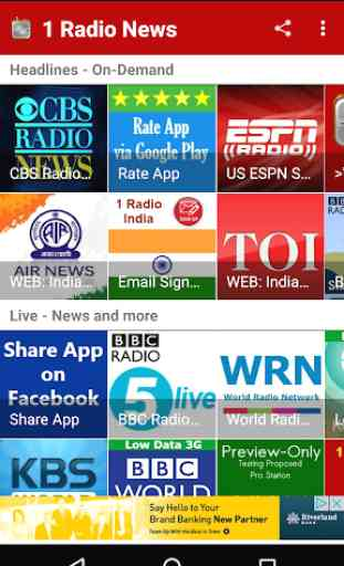 1 Radio News - Hourly, Podcasts, Live News 4