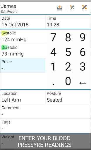 Blood Pressure Log - MyDiary 1