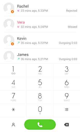 Theme for ExDialer MIUI Light 1