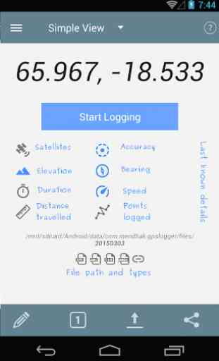 Logger GPS per Android 1