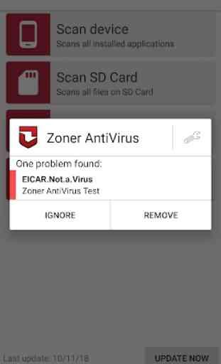 Zoner AntiVirus Free 3