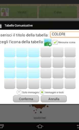 Tabelle Comunicative TFAplugin 4
