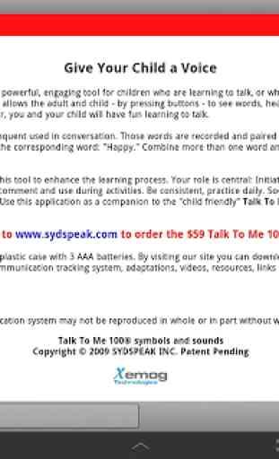 Talk To Me 100® Lite - Autism 3