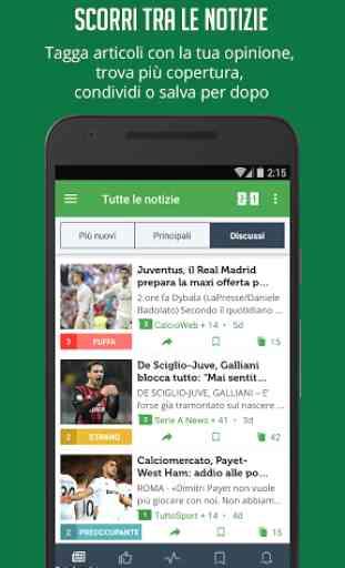 Notizie e Risultati di Calcio 3