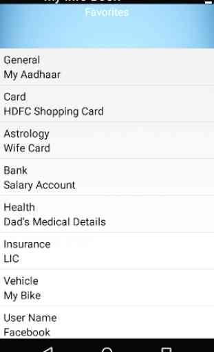 My Info Book - Save Pan Card, Aadhar, GPF, KGID 2