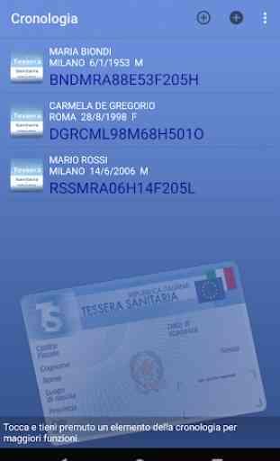 Tessera Sanitaria Italiana 1