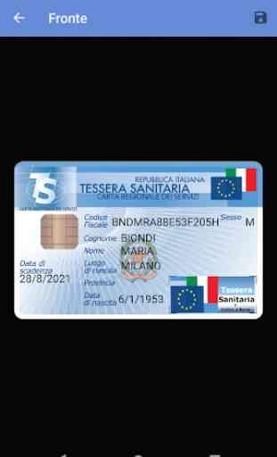 Tessera Sanitaria Italiana 3