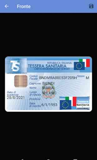 Tessera Sanitaria Italiana Pro 3