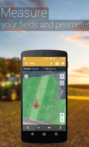 GPS Misura l'area del campo 3