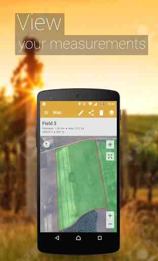 GPS Misura l'area del campo 4
