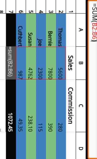 Simple Spreadsheet (free/ads) 2