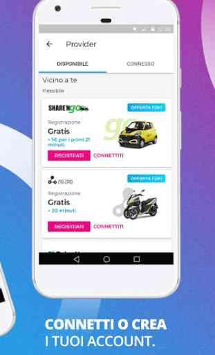 Free2Move compara e prenota auto scooter bici taxi 2
