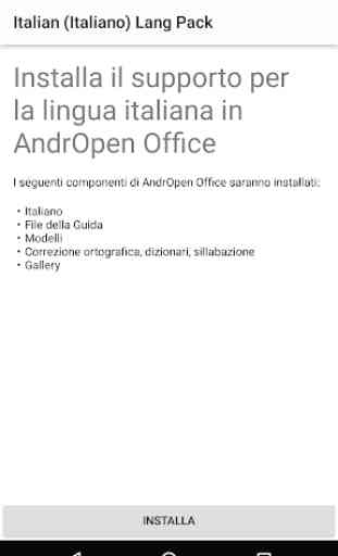 Italian (Italiano) Lang Pack for AndrOpen Office 1