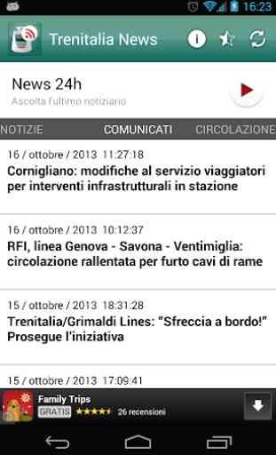 Trenitalia news 2
