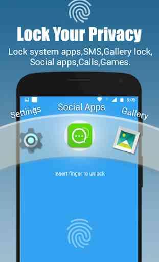 App lock - Real Fingerprint, Pattern & Password 1