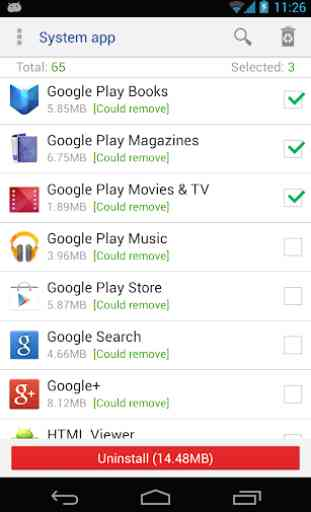 System app remover (root needed) 1
