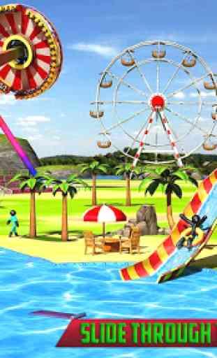 acqua Diapositiva Stickman divertimento Parco 3