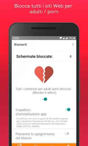 BlockerX - Blocco Android Porn / Blocco app 2
