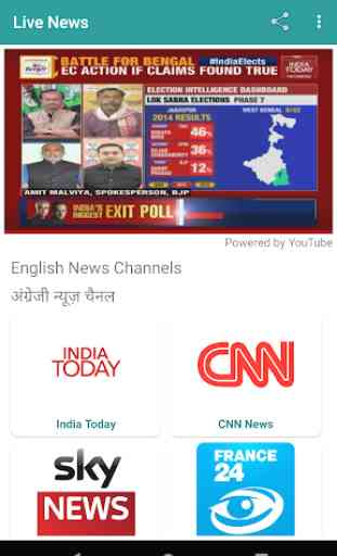 Live News Channels✔️ DD News, India Today, NASA TV 2