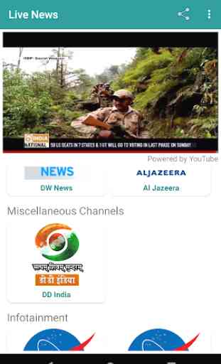 Live News Channels✔️ DD News, India Today, NASA TV 3