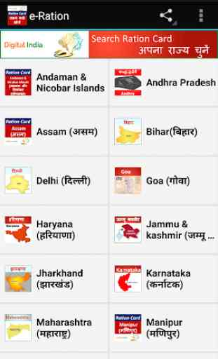 Ration Card- All States 1