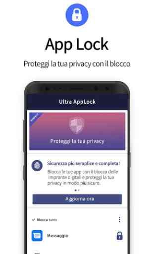 Ultra AppLock protegge la tua privacy. 1