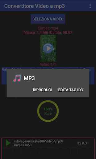 Video in mp3, mp2, aac o wav in gruppo 2