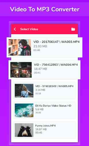 Video To Mp3 Converter - Cut, Join, Reverse,Motion 1