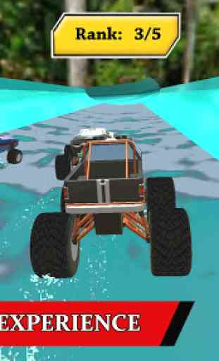 Water Park Truck Stunts and Race : Water Adventure 4