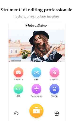 Editor video / Video Maker, foto, musica, taglio 1