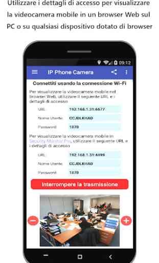 IP Phone Camera - Visualizza la fotocamera sul PC 2
