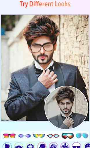 Men Photo Editor - HairStyles,Moustache,Sunglasses 1