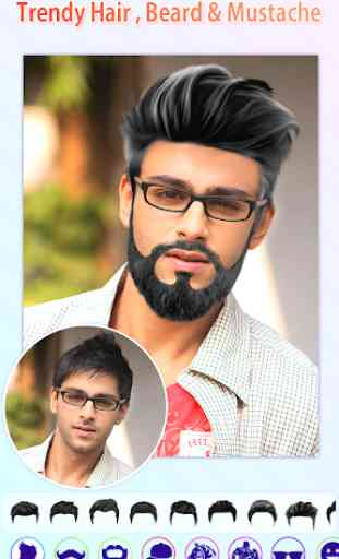 Men Photo Editor - HairStyles,Moustache,Sunglasses 2