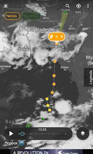 Radar temporali: mappa meteo 3