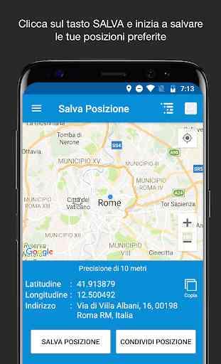 Salva Posizione GPS 1