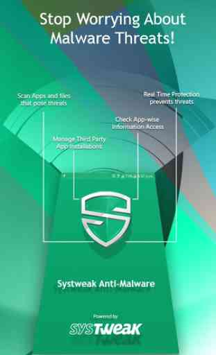 Systweak Anti-Malware - Free Mobile Phone Security 1
