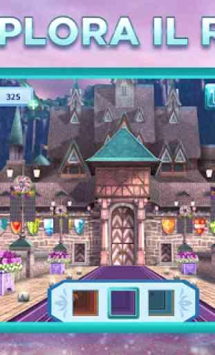 Avventure di Frozen di Disney: ungioco match-3 2