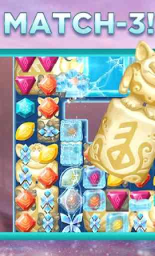 Avventure di Frozen di Disney: ungioco match-3 3