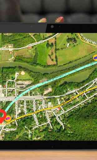 GPS Navigazione & Carta geografica Direzione 3
